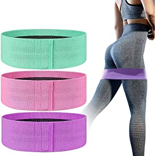 Wlsauto Exercise Resistance Bands Set for Legs,Thighs,Glutes| Non-Slip Hip Bands| for Squat Yoga,Pilates,Gym Workout| Elas...