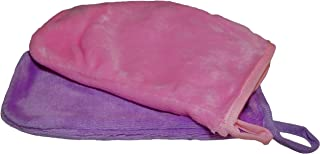 Plush Microfiber Towels/WASHCLOTHS, Ultra Soft Thick (Mittens - Pink, Lavender)