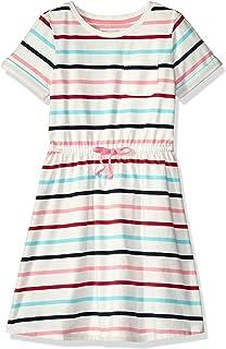 fadd544d22d Amazon Essentials Girls  Short-Sleeve Elastic Waist T-Shirt Dress