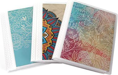 """CocoPolka 3 Pack 4"""" x 6"""" Photo Albums with Pastel Covers, with Removeable Cardstock Inserts in Covers, Flexible Bindings. Hold Up to 48 4x6 Photos in Each Mini Photo Album."""