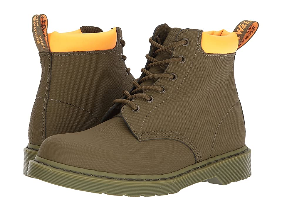 Dr. Martens 939 6-Eye Boot (Mid Olive Ajax/Neon Orange 804C2X Pu) Men