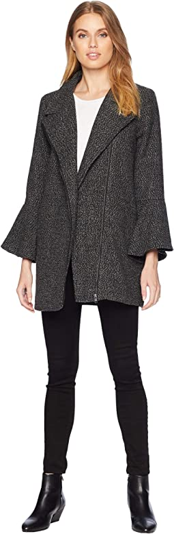 Stay Phresh Tweed Bell Sleeve Coat