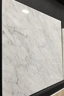Carrara Marble Italian White Bianco Carrera 18x18 Marble Tile Polished