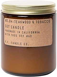 P.F. Candle Co. Teakwood & Tobacco Standard Soy Candle (7.2 oz)