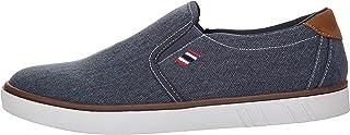 Boras Fashion Sports 5205-1512 Slip-On Canvas Trainers in Plus Sizes Denim Blue / White / Red