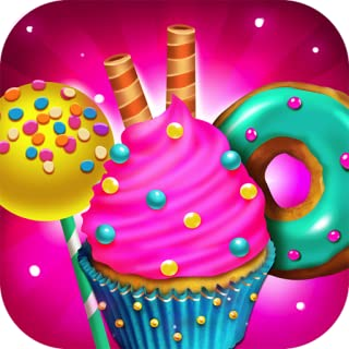 Candy Dessert Bakery Shop – Make, Bake & Cook Donuts, Cake Pops, Cupcakes, Cookies, Popsicles, Ice Cream, Cakes! Kids Candy Kitchen Cooking Food Maker Restaurant Game