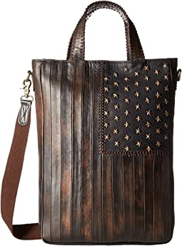 Leather Patriotic Rockin Tote