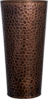 H Potter Large Tall Planter Pots Outdoor Indoor Copper Flower Decorative Weather Resistant Garden Deck Patio