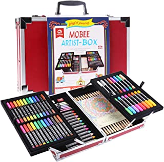 Mobee 97-Piece Artist Box Art Set with Aluminum Case,Kids Pencil Crayon Kit for Painting & Drawing