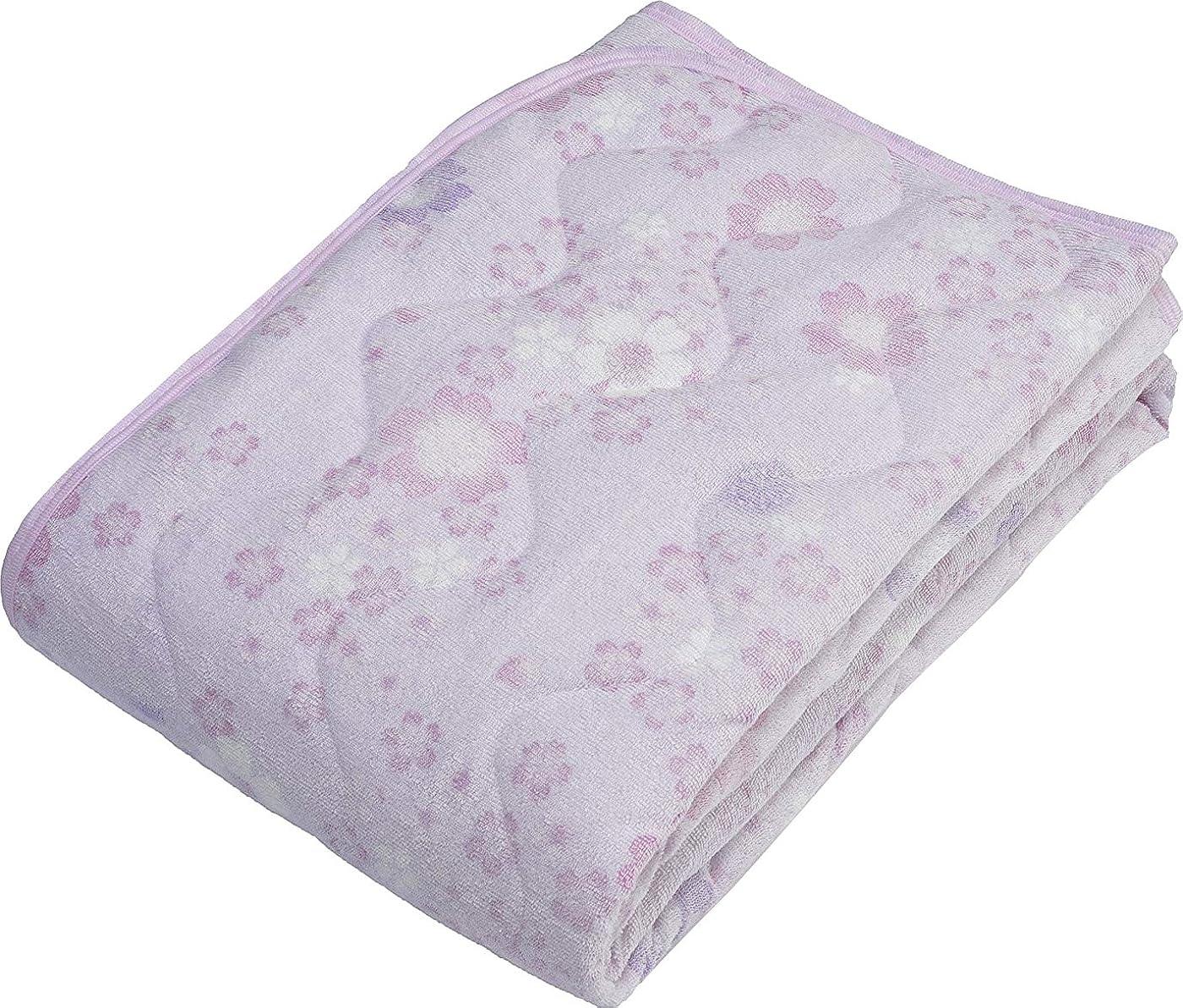 手入れ気晴らしハード西川(Nishikawa) ピンク シングル 100×205㎝ 敷きパッド 洗える パイル地 綿100% さらさら 5CS3805