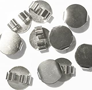 Blank Bolo Tie Round Slides Pack of 10 Silvertone 16mm