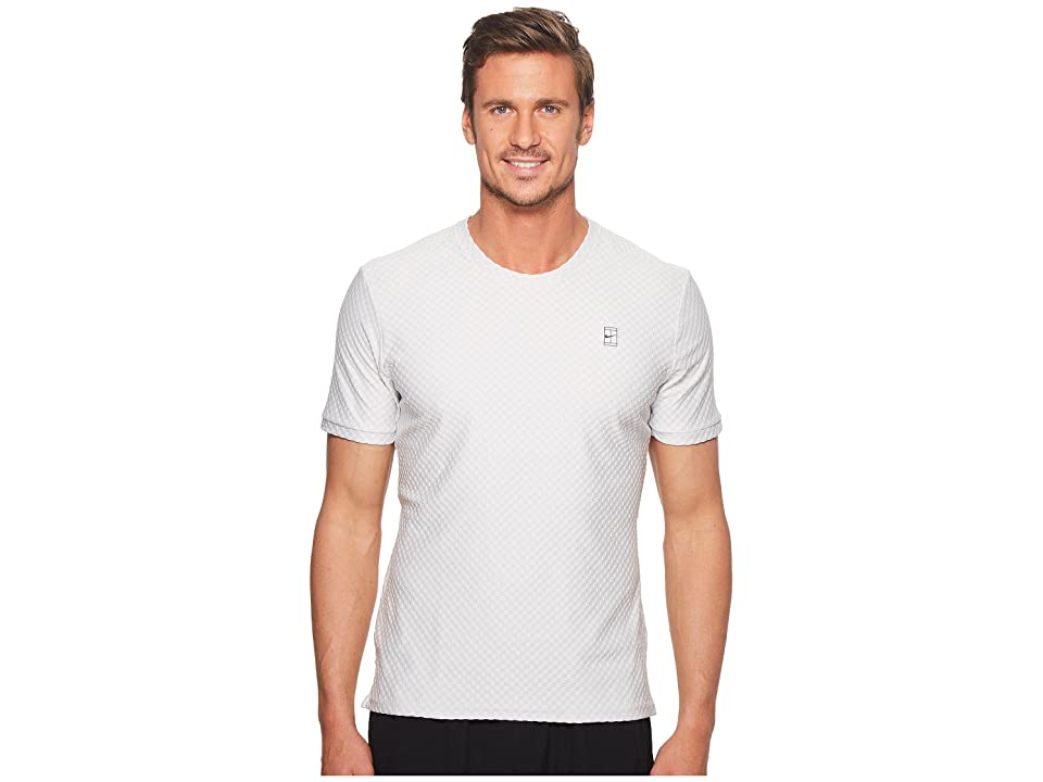 Nike Court Short Sleeve Tennis Top (Vast Grey/Black) Men