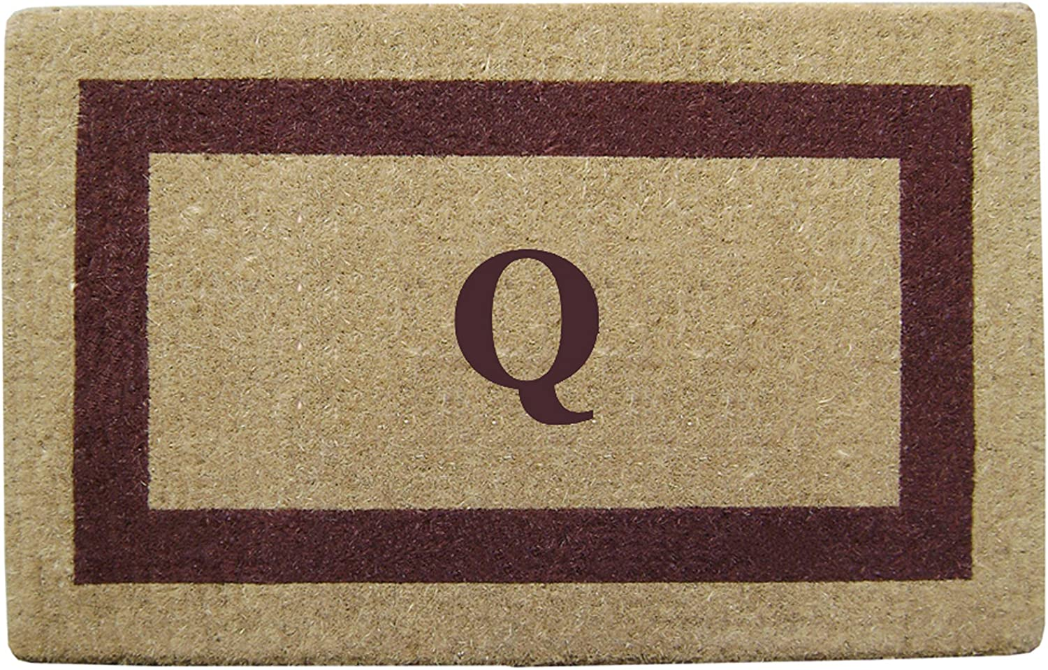 Heavy Duty 38  x 60  Coco Mat Brown Single Picture Frame, Monogrammed Q