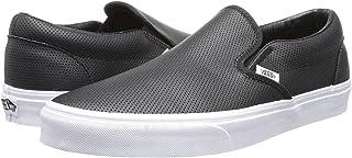 (バンズ) VANS メンズスニーカー?靴 Classic Slip-On Core Classics (Perf Leather) Black Men's 9, Women's 10.5 (27cm(レディース27.5cm)) Medium