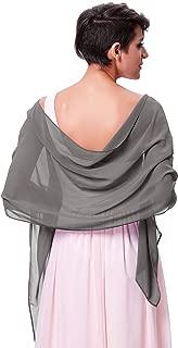 Kate Kasin Damen Sommer Schal für Kleid Sommer Tuch Chiffon Schal in verschiedenen Farben KK229