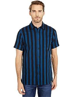 Medium Scotch /& Soda Mens Classic Shortsleeve Shirt in Structured Cotton Quality Combo B