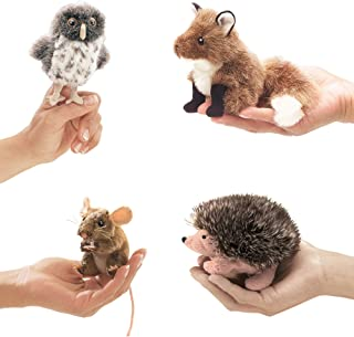 Folkmanis Finger Puppets For Kids - Great Props for Theater, Preschool Activities, Puppet Shows - Animal Puppets Set