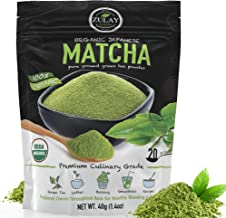 Zulay Organic Matcha Green Tea Powder - USDA Certified, Authentic Japanese Culinary Grade Matcha Tea Powder Perfect for Lattes, Smoothies & Baking - Vegan, GMO Free Matcha Powder (40g starter size)