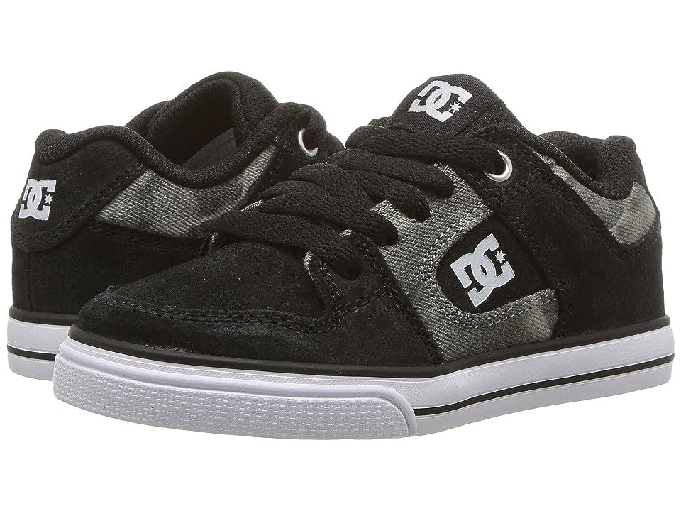 DC Kids Pure SE (Little Kid/Big Kid) (Black Print) Boys Shoes