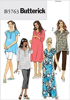 Butterick Patterns 5763 Misses' Maternity Top, Dress, Belt, Shorts and Pants, Sizes 8-10-12-14-16