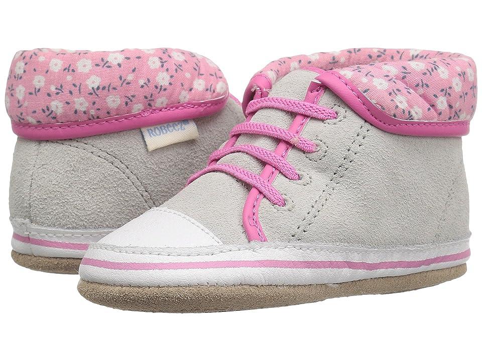 Robeez Floral Flora Mini Shoez (Infant/Toddler) (Grey) Girls Shoes
