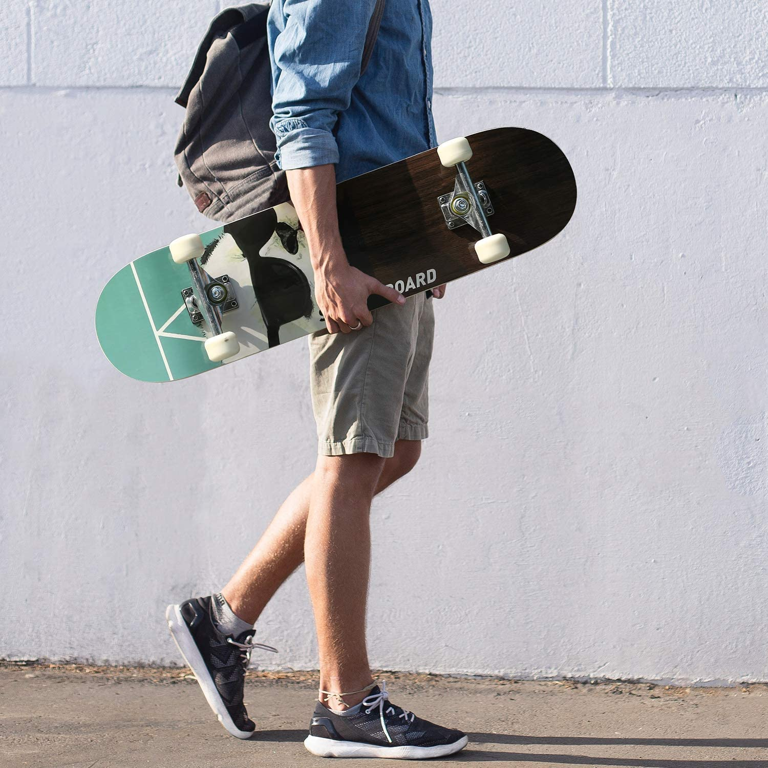 Standard Skate Boards for Youths Beginners Sports Lovers 31x 8 streakboard Skateboard 7 Layer Canadian Maple Double Kick Deck Concave Cruisers