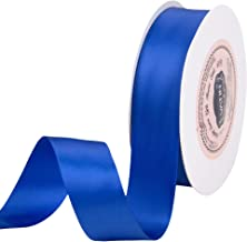 VATIN 1 inch Double Faced Polyester Satin Ribbon Royal Blue/Sapphire Blue - 25 Yard Spool, Perfect for Wedding, Wreath, Ba...