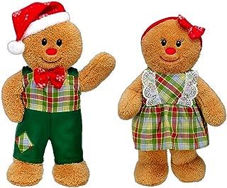 Christmas Gingerbread Boy & Girl Plush Toy Figures 17