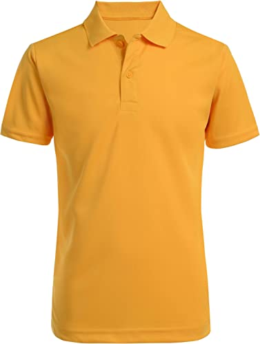 Nautica Boys' School Uniform Short Sleeve Performance Polo