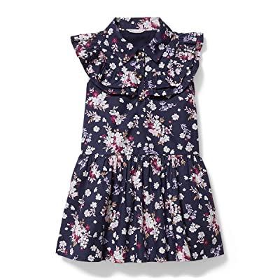 Janie and Jack Floral Print Dress (Toddler/Little Kids/Big Kids) (Multi) Girl