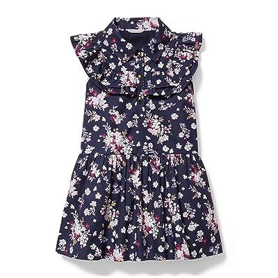 Janie and Jack Floral Print Dress (Toddler/Little Kids/Big Kids) Girl