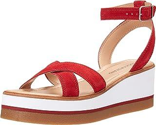 Lucky Brand Women's TARHI Wedge Sandal, Garnet, 9.5