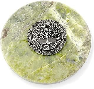 Irish Tree of Life Medallion on Connemara Marble Paperweight