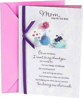 Hallmark Birthday Card for Mom (Flowers with Vases)