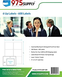 Address Labels - 975 Supply Labels - 6 Up Labels - Packaged in Re-Usable Box - Shipping/Mailing Labels - 4