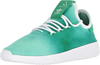 adidas Unisex-Kids PW Tennis HU J Sneaker,green, ftwr white, ftwr white,6 Medium US Big Kid