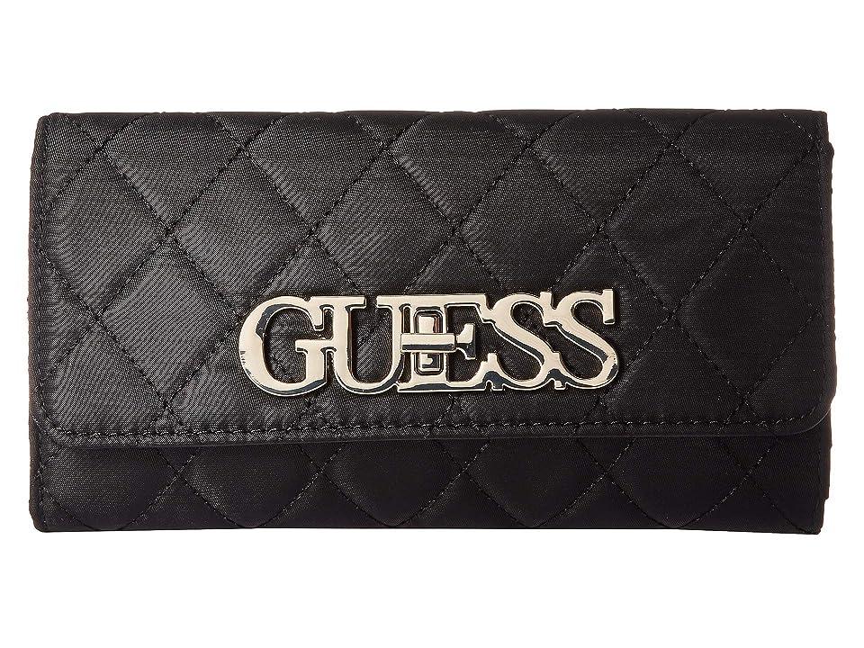 GUESS Sweet Candy SLG Multi Clutch (Black) Wallet Handbags