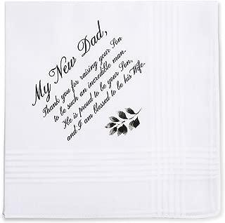 Wedding Handkerchief Gift for Bride Groom Mom Dad Grand New Step Parents Friends