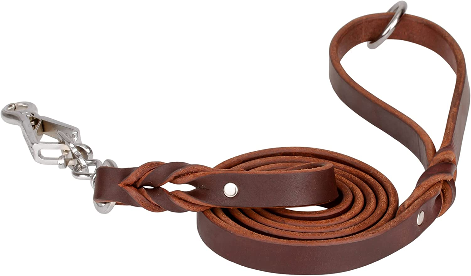 Herm Sprenger Handcrafted Leather Labrador Leash with Quick Release Snap Hook 6 ft (180 cm) for Walking and Training