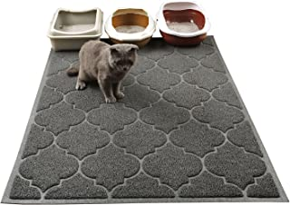 """Cat Litter Mat, XL Super Size, Phthalate Free, Easy to Clean, Durable, Soft on Paws, Large 47"""" x 36"""" Litter mat."""