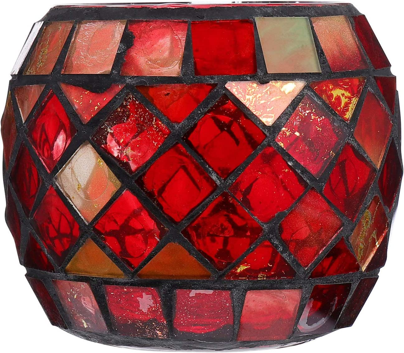 Mobestech Branded goods Glass Candle Holders Mosaic Can Votive Free Shipping New Holder Tealight