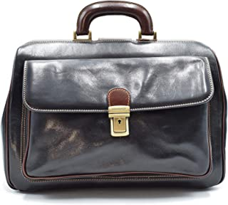 D/&D0422 Cartable en Cuir Made in Italy Marron