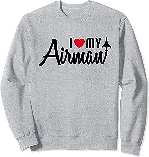 I Love My Airman Flying Sweatshirt