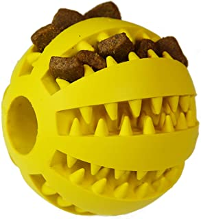 Zenify Puppy Toys Dog Toy Puppy Treat Training Behaviour Ball - Interactive Stimulation Gift for Smarter Dogs and Puppies (Yellow (Large))