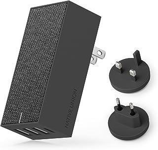 Native Union Cargador Smart 4 Internacional - Carga Rápida de Múltiples Dispositivos Cuatro Puertos USB (USB-C x 1) para EE.UU, Canadá, Reino Unido y Europa (Slate)