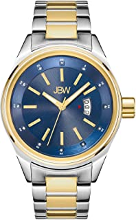 JBW Luxury Men's Rook 12 Diamonds Multi-Layer Dial Watch