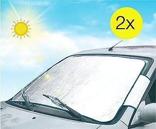 vordere Sonnenschutzgr/ö/ße Gr/ö/ße S silberner UV-Schutz 142x67 cm 4CARS Faltbarer Sonnenschirm Front+Hecksonnenreflektor+ Seitenscheiben Sonnenschutz f/ür Windschutzscheibe Sonnenblende