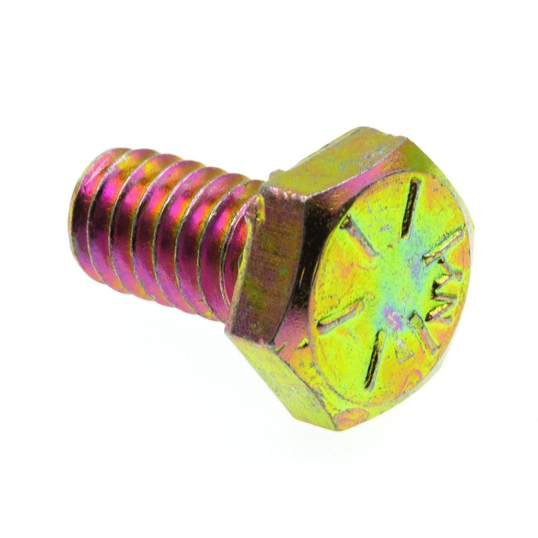 25-Pack Grade 8 Yellow Zinc Plated Steel Prime-Line 9104782 Hex Head Cap Screws 1//4 in.-20 X 3 in. Grade 8