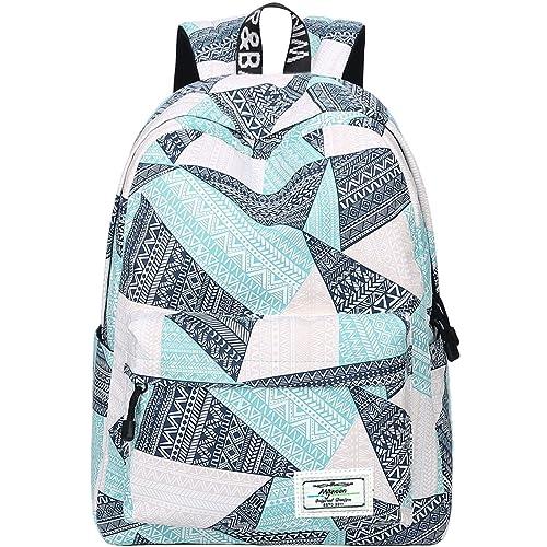 huge discount 5e54f b7456 Backpack for Teens, Fashion Geometric Pattern Laptop Backpack College Bags  Women Shoulder Bag Daypack Bookbags