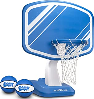 GoSports Splash Hoop PRO Swimming Pool Basketball Game, Includes Poolside Water Basketball Hoop, 2 Balls and Pump